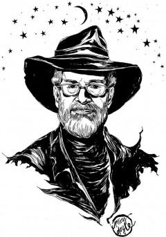 Terry Pratchett von Ming Doyle, Nutzung unter CC-BY-NC-SA